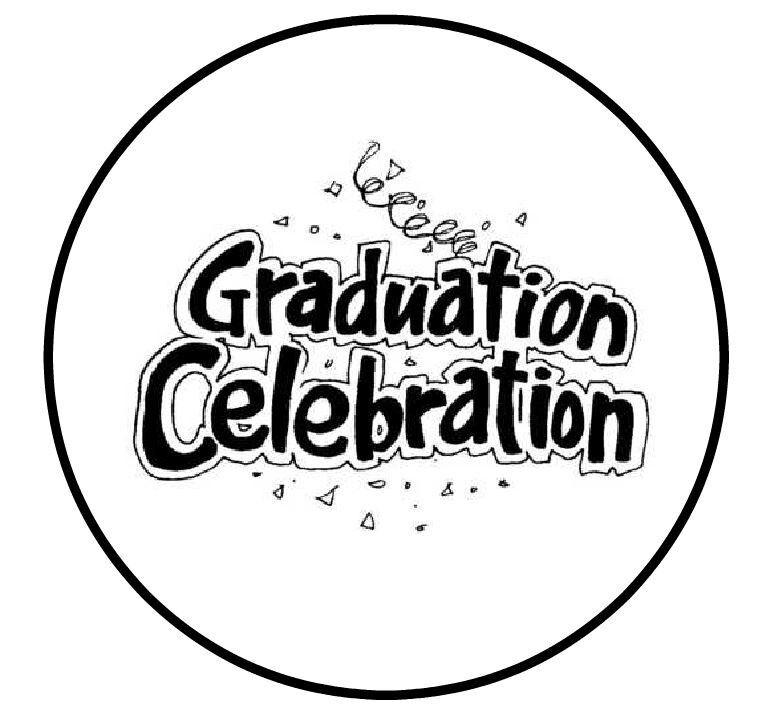 "Personalized Graduation Celebration 1"" Round Envelope Seals Custom Labels"
