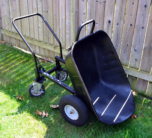 Contractor grade 4 Wheeled  Wheelbarrow with dumping feature