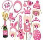 Photobooth party props Foto accessoires Baby shower Meisje