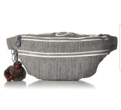 NEW Kipling Yasemina Small waist bag Bum Bag Across body Grey Weave Rrp£63