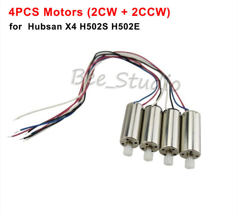 4Pcs CW CCW Motor Engine for Hubsan X4 H502S H502E RC Drone Quadcopter Parts