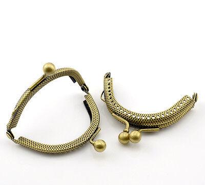Taschengriff, Taschenverschluß bronzefarben halbrund 6,5x5,5cm Nr.20