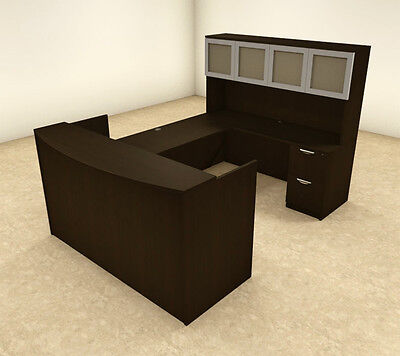 5pc U Shaped Modern Office Reception Desk Ot-sul-r12