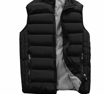 Male Outdoor Winter Warms Clothing Sleeveless Jackets Solid Mandarin Collars New