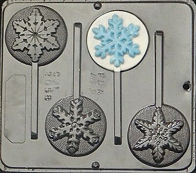 Snowflake Lollipops  Chocolate Candy Mold Christmas  2058 NEW (Snowflake Candy)