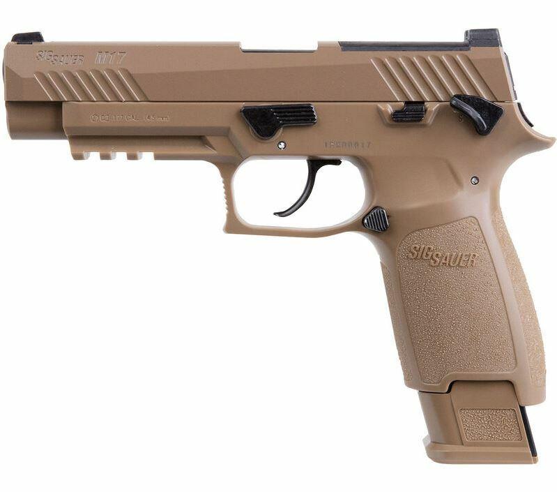 Sig Sauer P320-M17 CO2 Powered Air Pistol .177 Caliber (20 Pellet Rounds)
