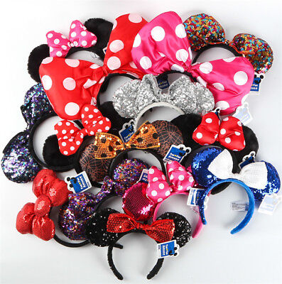 New Disney Parks Minnie Mouse Ears Mickey Headband Christmas Costume Party - Christmas Minnie Mouse Costume