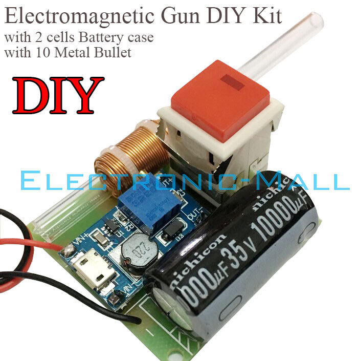 Electromagnetic Gun Scientific Experimental Model School Interest Study DIY KITS