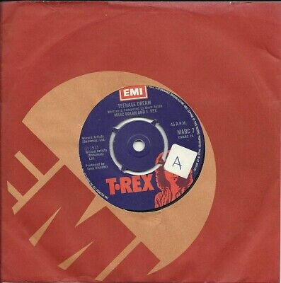 """Marc Bolan And T. Rex – Teenage Dream  7"""" Single 1973 VG+/VG+ for sale  Shipping to Ireland"""