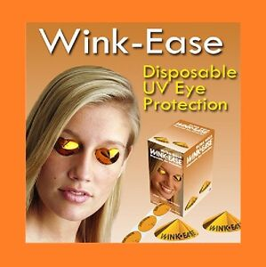 Wink-Ease Disposable SunBed /Solarium Tanning Eye Protection Goggles 5 Pairs
