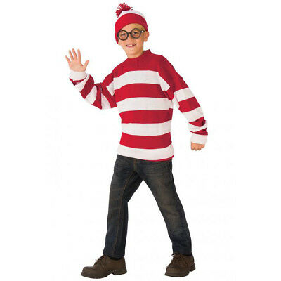 Rubie's Deluxe Kids Child Where's Waldo Costume | 641378 - Waldo Kids Costume