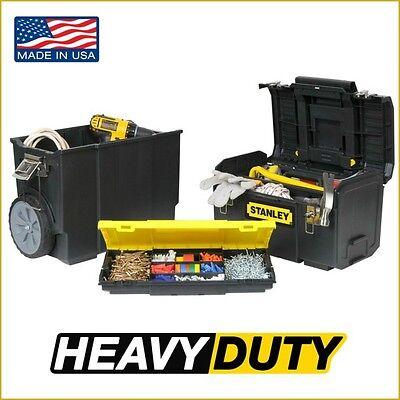 Stanley Rolling Vehicle Box Storage Cabinet Chest Portable Toolbox Garage Organizer