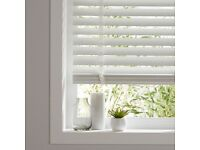 New white wooden venetian blind W(160cm) (with the package)