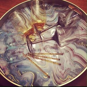 """Large """"Agate"""" Decorative/serving Tray"""