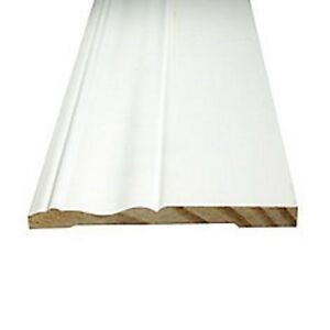"4 1/8"" x 3/8"" x 16ft Primed Finger Jointed Pine Baseboard per ft"