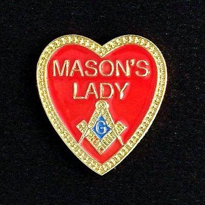"""Masonic """"Mason's Lady"""" Lapel Pin (ML-1)"""