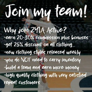 ZYIA ACTIVE-BECOME ONE  OF CANADA'S FIRST REPS