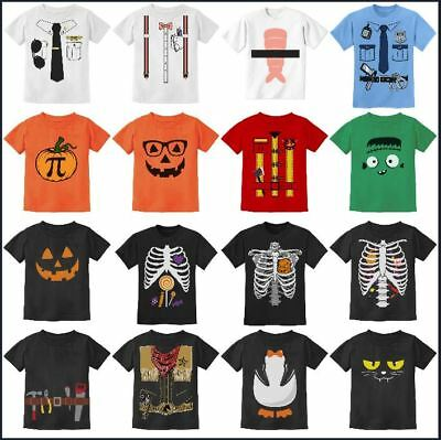 Easy Halloween Costumes For Girls (Halloween Easy Costume Facny T-shirt For Boys / Girls Toddlers Kids 2T 3T 4T)