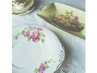 Vintage Crockery/China plates tea set