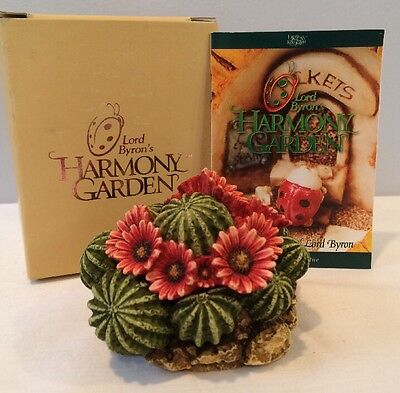 "NIB 1998 Harmony Garden ""Cactus"" Flower Box Figurine #HGCA Harmony Kingdom"
