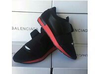 Balenciaga runners, Loboutin high tops, yeezy350, stone island clothes