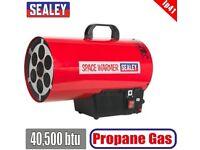 SEALEY TOOLS LP41 SPACE WARMER® PROPANE HEATER 40,500BTU/HR PROPANE HEATERS QUIET GAS REGULATOR