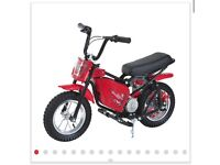 Teens Electric Motorbike, 24V-Red New
