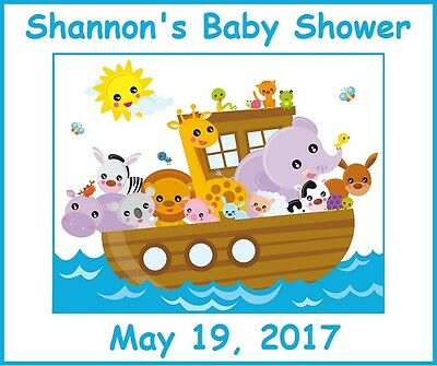 (4)Personalized Noah's Ark Party Stickers,3