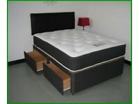 ⚡️⚡️STRONG & STURDY⚡️⚡️ BRAND NEW SINGLE - DOUBLE DIVAN BED BASE WITH MATTRESS