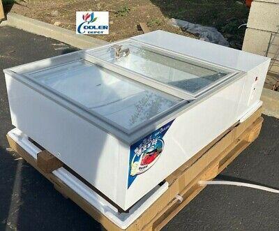 New Commercial Freezer Merchandiser Glass Door For Countertop Counter Top Use