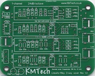 NEW ! Linkwitz-Riley 3-way active filter by KMTech PCB DIY v1.1