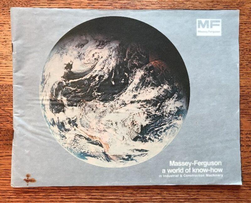 "Vintage Massey-Ferguson ""A World of Know-How"" Brochure Construction Equipment"