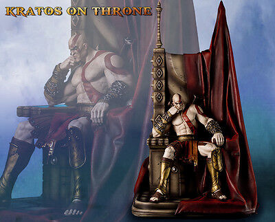 Kratos On Aries Throne God Of War 1 4 Scale Statue Gaming Heads
