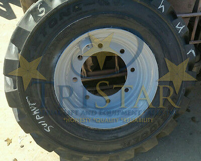 1 One 13.00-24 Telehandler Foam Filled Tire W Refurbished Rim Exchange