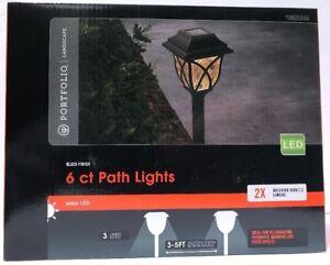 LOT 12 - Portfolio Led Landscape Lights Pathway Solar Lights 6 Per BOX