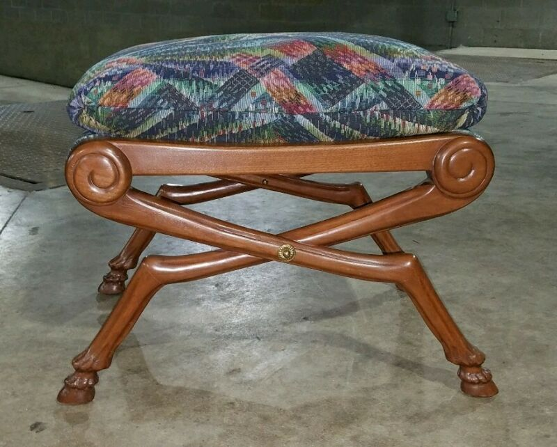 Hoof Leg Down Cushion Stool/Bench