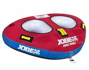 New Jobe Double Trouble 2 Person Inflatable Towable Jetski Boat Ringo Disc Donut