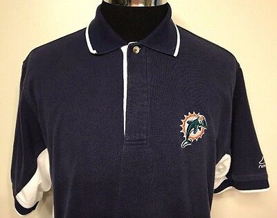 NFL Miami Dolphins Football Polo Shirt Men