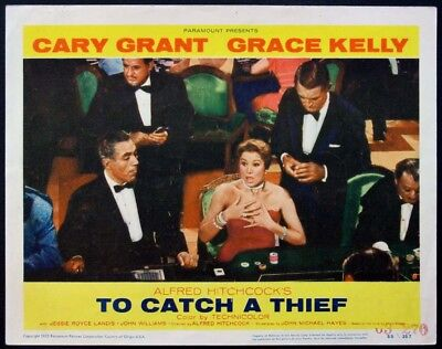 TO CATCH A THIEF HITCHCOCK CARY GRANT IN CASINO 1955 LOBBY CARD #8