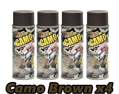 Performix Plasti Dip Camo Brown 4 Pack Rubber Coating Spray 11oz Aerosol Cans
