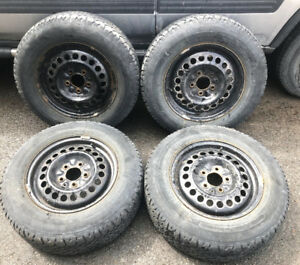 4 Winter tires + rims - Honda CRV 2001