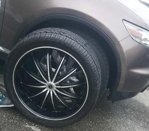 "22"" Wheels (5x114.3mm) - Deep Dish - Low Pro Tires 285/35/R22"