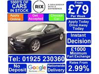2015 BLACK AUDI A5 CABRIOLET 3.0 TDI S LINE SPECIAL EDT CAR FINANCE FROM £79PW