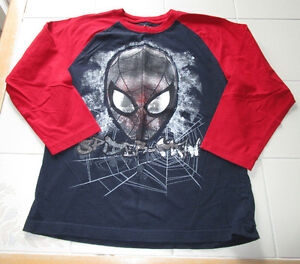 Boys long sleeve Spiderman shirt size Lg (10/12) *barely worn