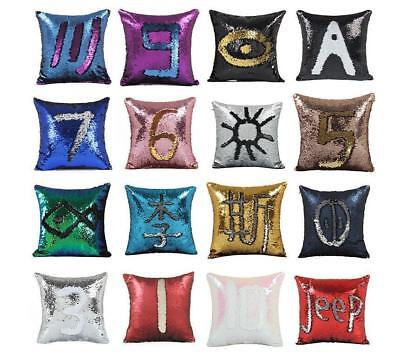 DIY Bling Sequin Glitter Reversible Sofa Cushion Cover Pillow Case Double Color ()