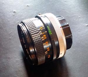 Lens Canon fd 28mm f3.5 S.C.