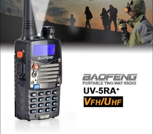 Baofeng UV-5RA Black Dual Band Ham FM Two Way Radio - Ham