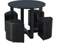 Space saver dining table and chairs