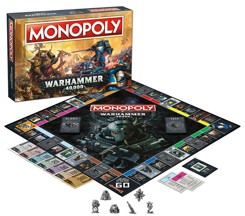 USAopoly MONOPOLY® Call Of Duty, IT, Guardians of The Galaxy, Warhammer  ... Warhammer40,000