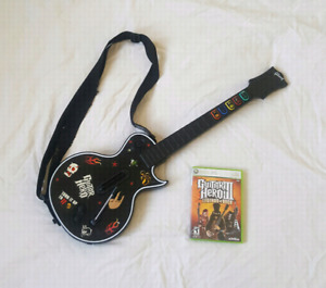 Wireless Guitar Hero Guitar with Game Xbox 360